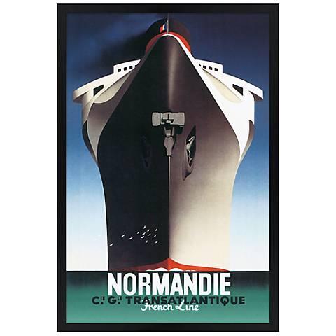 "Normandie 30"" High Black Rectangular Giclee Wall Art"