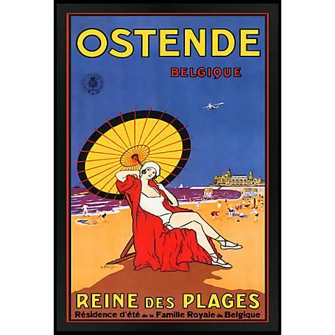 """Ostende Belgique 30"""" High Black Rectangular Giclee Wall Art"""