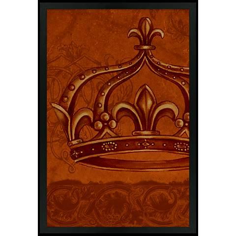 "Crown Red 30"" High Black Rectangular Giclee Wall Art"