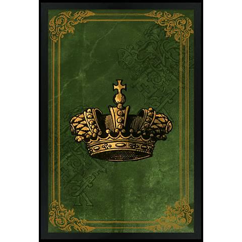 """Crown Green 30"""" High Black Rectangular Giclee Wall Art"""