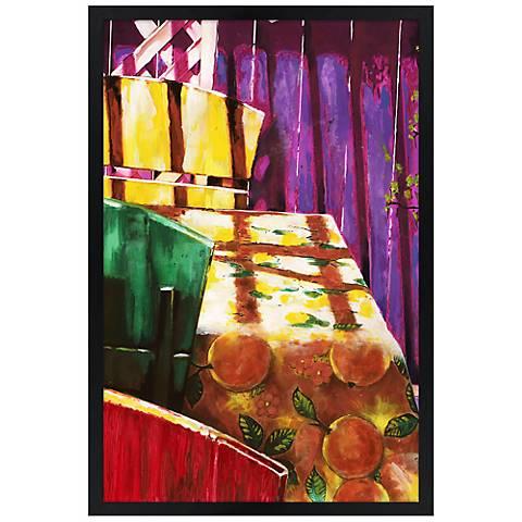 """Sunlit Patio 30"""" High Rectangular Giclee Wall Art"""