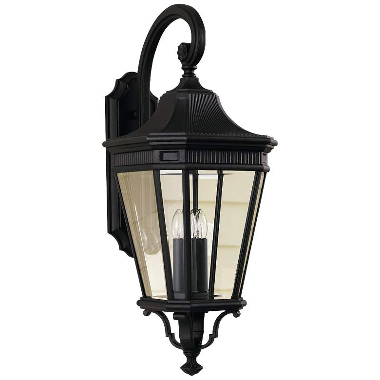 "Feiss Cotswold Lane 30""H Black Outdoor Wall Light"