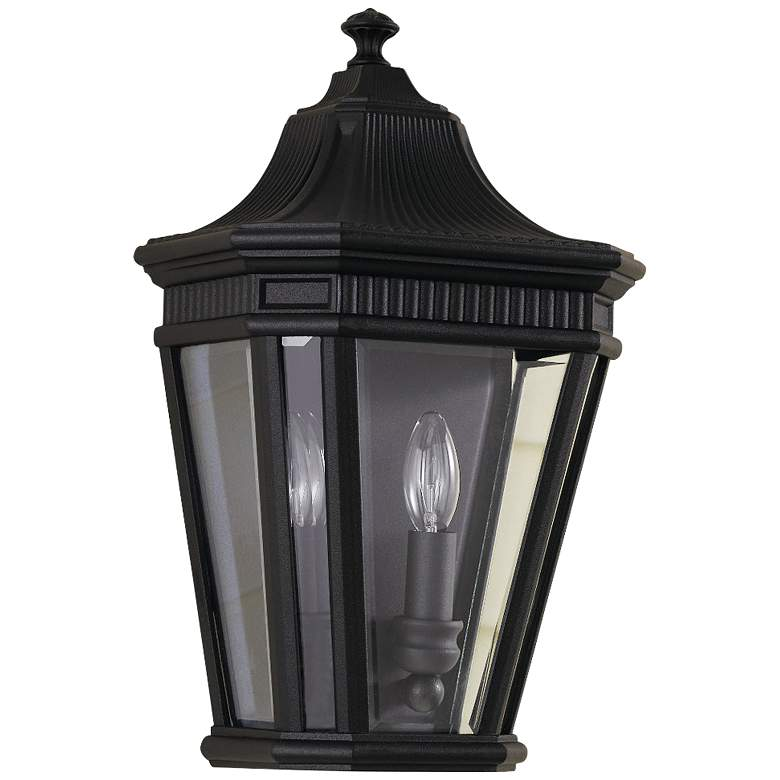"Feiss Cotswold Lane16""H Black Outdoor Wall Light"