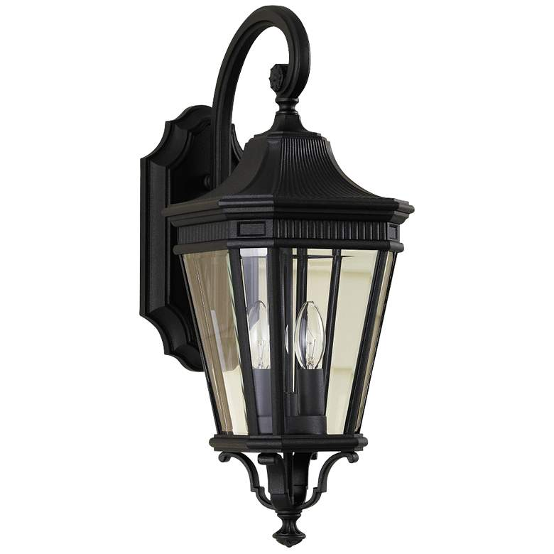 """Feiss Cotswold Lane 20 1/2""""H Black Outdoor Wall Light"""