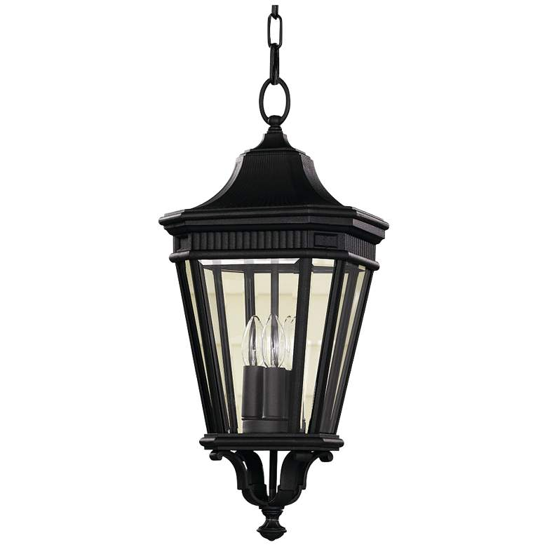 "Feiss Cotswold Lane 21 1/2""H Black Outdoor Hanging"