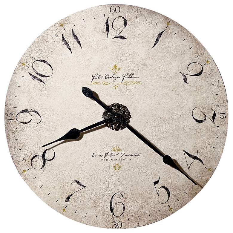 Dia Enrico Fulvi Large 32 Wide Wall Clock By Howard Miller