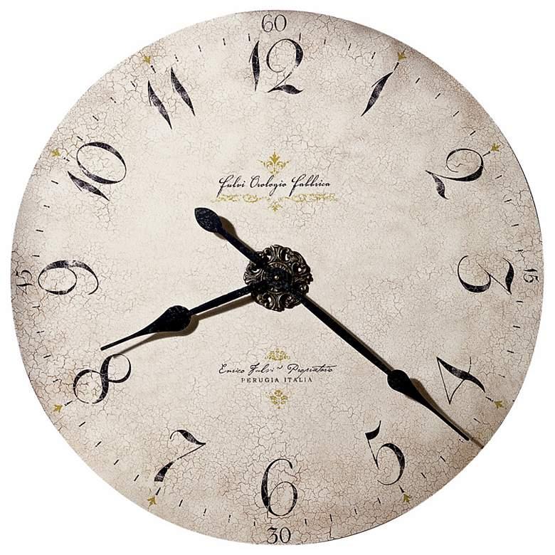 "Howard Miller Dia Enrico Fulvi Large 32""  Wide Wall Clock"