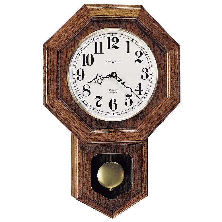 """Katherine 21 1/4"""" High Wall Clock with Musical Chimes"""