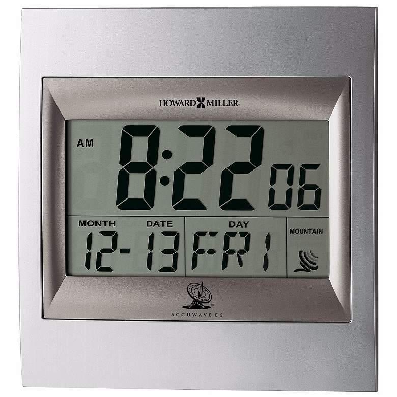 "Howard Miller Techtime II LCD 9 1/4"" High Desk or Wall Clock"