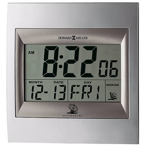 "Howard Miller Techtime II LCD 9 1/4"" High Desk or Wall Clock"