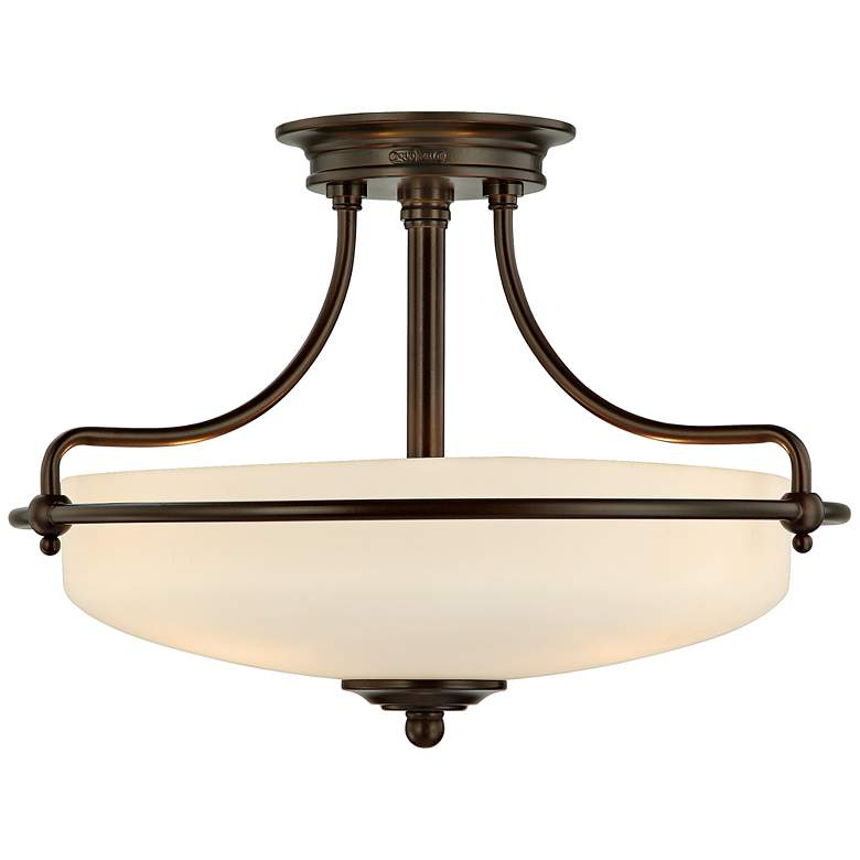 """Griffin Collection Palladian Bronze 17"""" Wide Ceiling Light"""