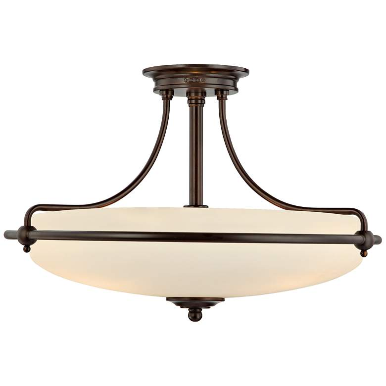 """Griffin Collection Palladian Bronze 21"""" Wide Ceiling Light"""