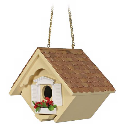 Yellow Little Wren Cottage Bird House