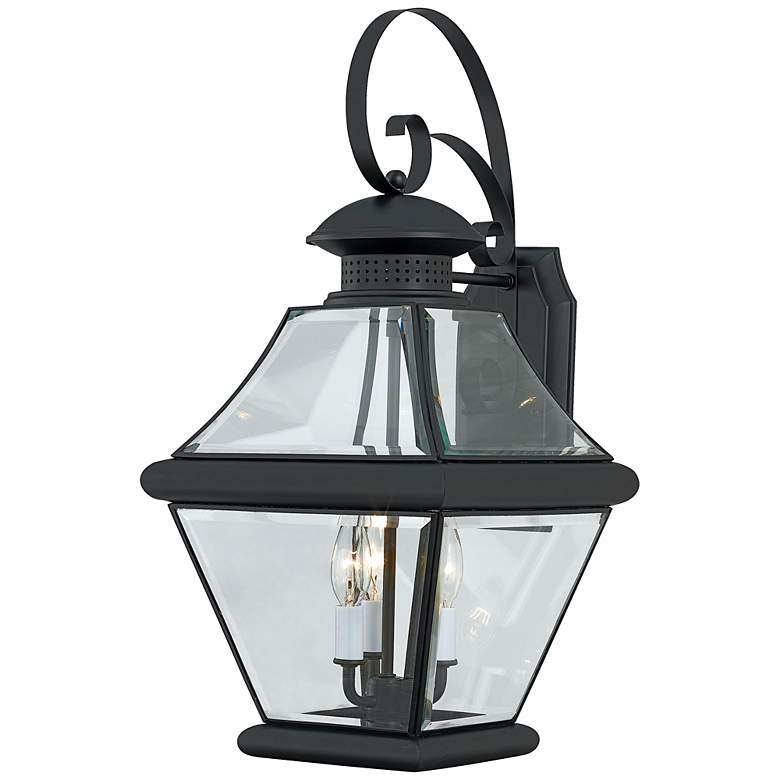 "Rutledge Collection Black 24"" High Outdoor Wall Light"