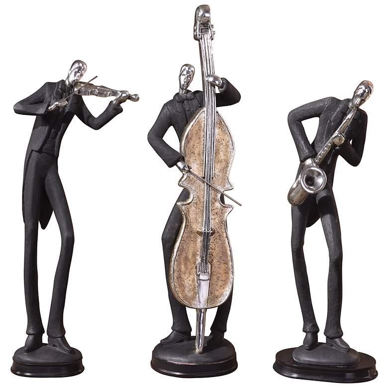 """Uttermost 18"""" High Set of 3 Musicians"""