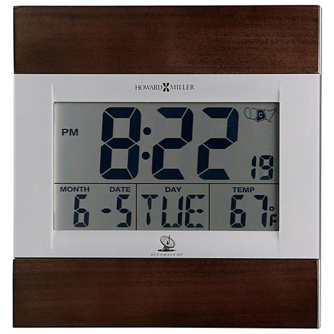 Howard Miller Techtime III LCD Table or Wall Alarm Clock