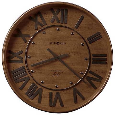 """Howard Miller Wine Barrel 25"""" Wide Wall Clock"""