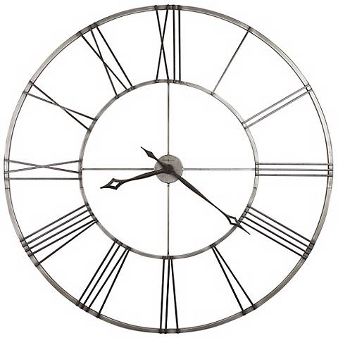"Howard Miller Stockton 49"" Wide Wall Clock"