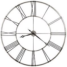 """Stockton 49"""" Wide Large Wall Clock by Howard Miller"""
