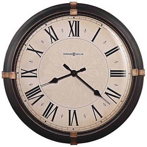 "Howard Miller 24"" High Atwater Wall Clock"