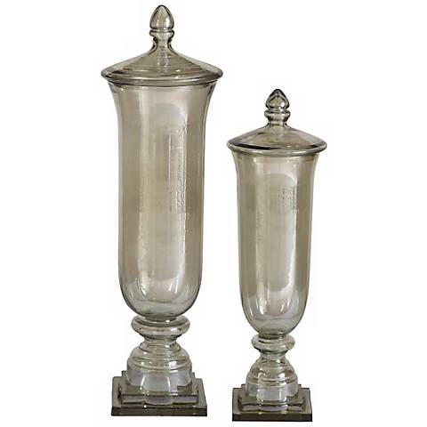 Set of 2 Gilli Decorative Glass Containers by Utermost