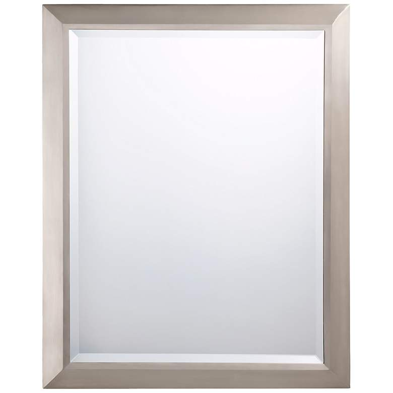 "Kichler Brushed Nickel 24"" x 30"" Rectangular Wall Mirror"