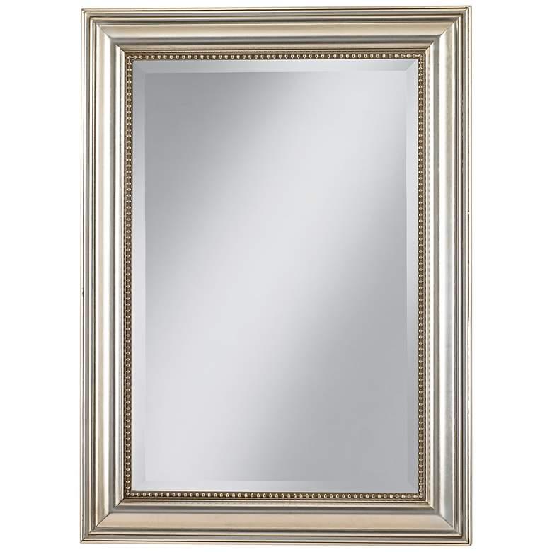"Uttermost Stuart Silver Leaf 26 3/4"" x 36 3/4"" Wall Mirror"