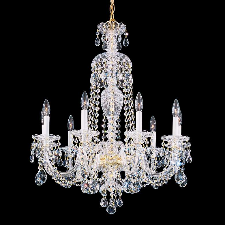 "Schonbek Sterling 27"" Wide Swarovski Crystal Chandelier"
