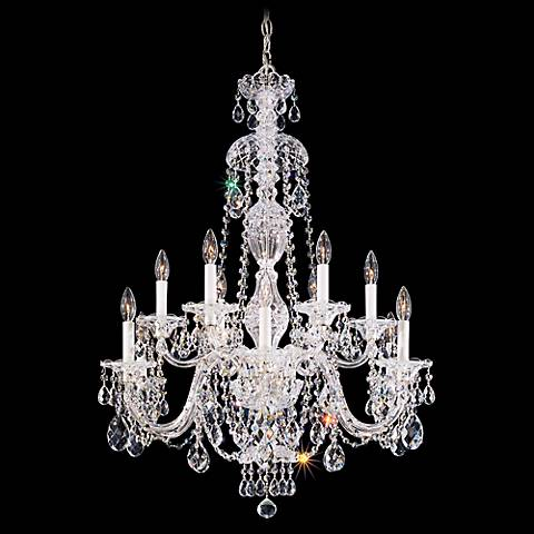 "Schonbek Sterling 29"" Wide Swarovski Crystal Chandelier"