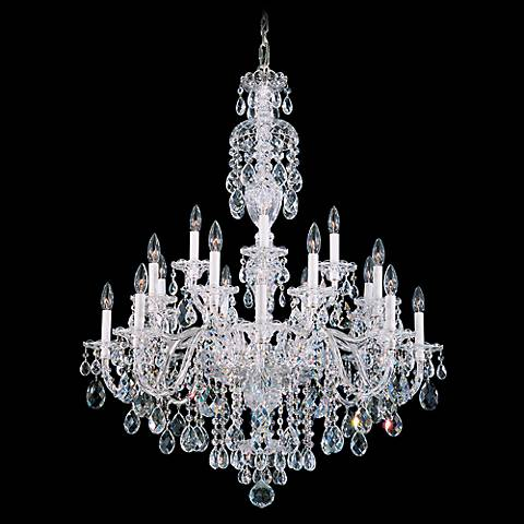 "Schonbek Sterling 34"" Wide Swarovski Crystal Chandelier"