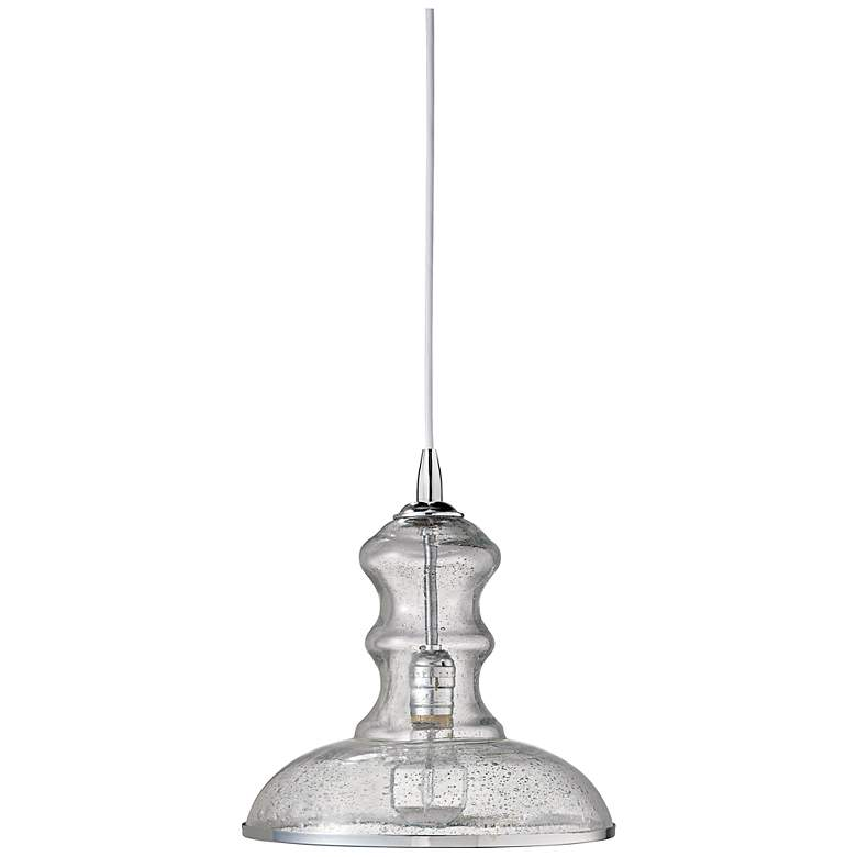 """Jamie Young St Croix Clear Glass 9 3/4"""" Wide Pendant  Light"""