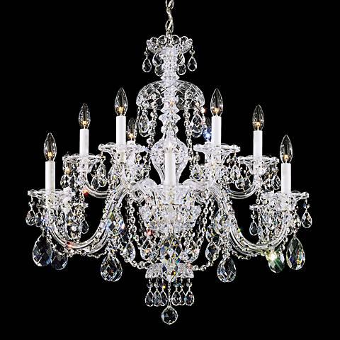 "Schonbek Sterling 29""W Swarovski Crystal 12-Light Chandelier"