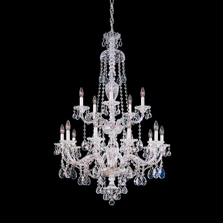 "Schonbek Sterling Collection 32"" Wide Crystal Chandelier"