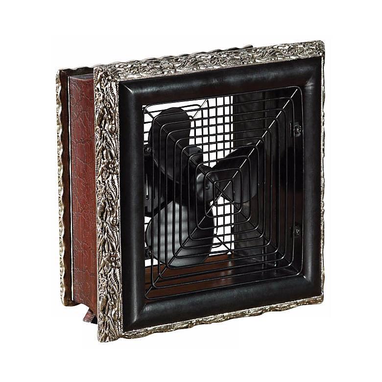 Volturi Wood Frame Antique Style Desk Fan