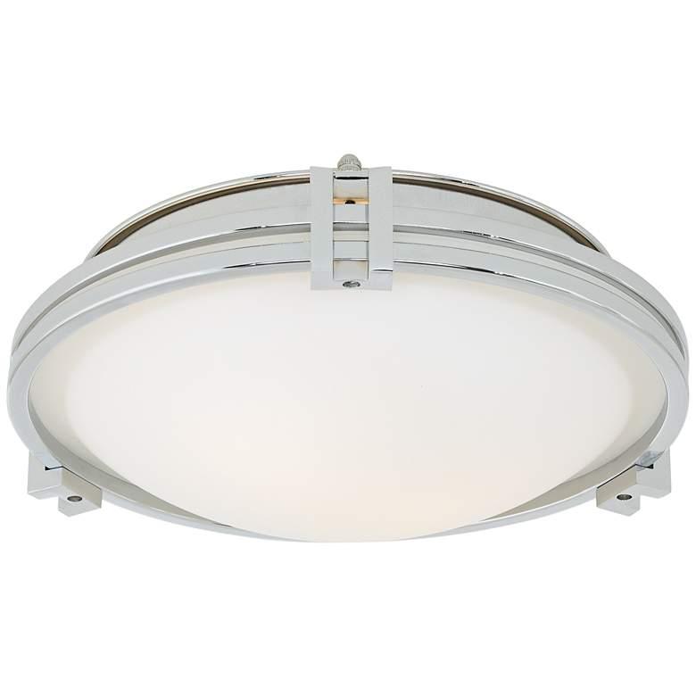 "Possini Euro Deco 12 3/4"" Wide Chrome Ceiling Light"