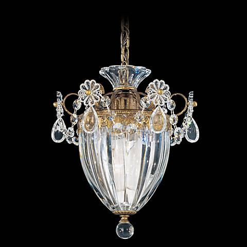 """Schonbek Bagatelle Collection 8"""" Wide Crystal Mini Pendant"""