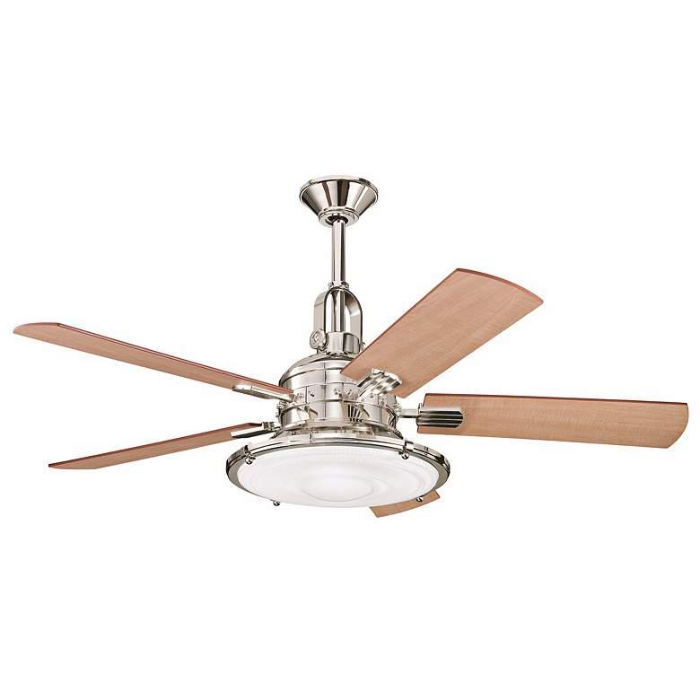 """52"""" Kichler Kittery Point Polished Nickel Ceiling Fan"""