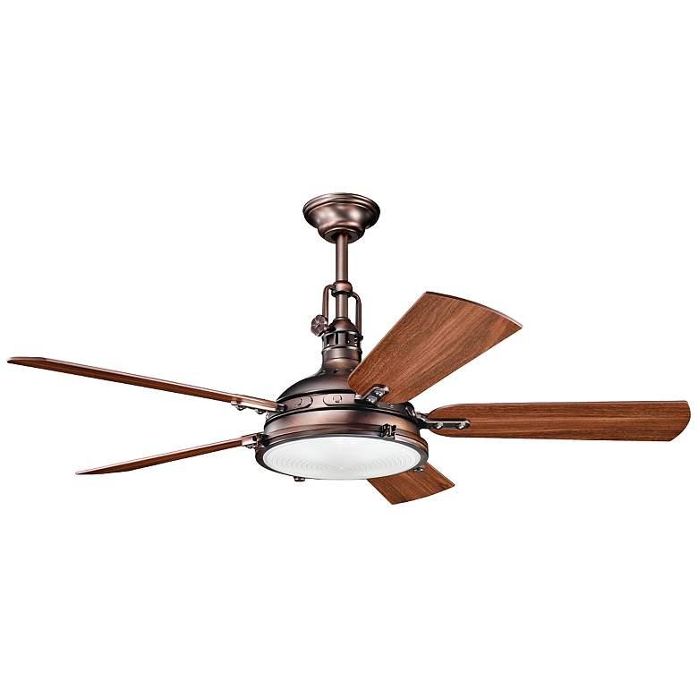 "56"" Kichler Hatteras Bay Oiled Brushed Bronze Ceiling Fan"