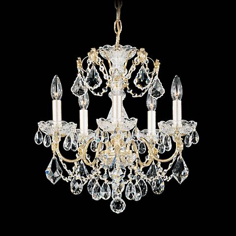 "Schonbek Century Collection 17"" Wide Crystal Chandelier"