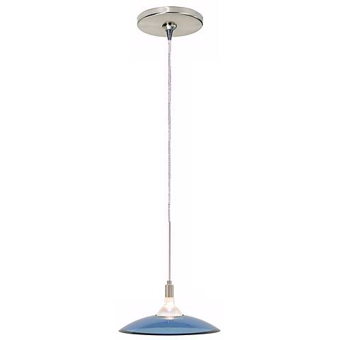 Diz Steel Blue Satin Nickel Tech Lighting Mini Pendant