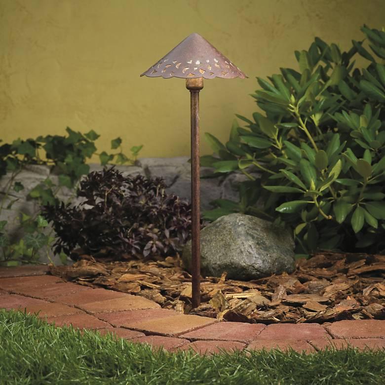 Kichler Hammered Tannery Bronze LED Landscape Path Light