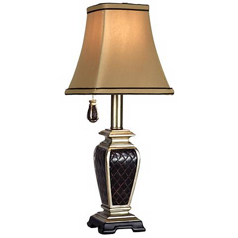 Brompton Collection Black Diamond Pattern Accent Lamp