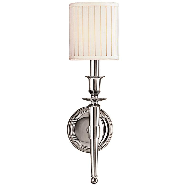 """Hudson Valley Abington 18""""H Polished Nickel Wall Sconce"""