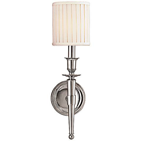 "Hudson Valley Abington 18""H Polished Nickel Wall Sconce"