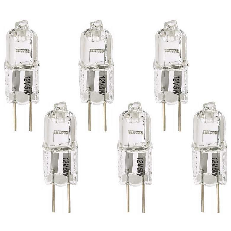 Tesler Clear 5 Watt 12 Volt G4 Bi-Pin Halogen Bulb 6-Pack