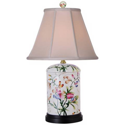 Floral Jar Porcelain Accent Table Lamp N2016 Lamps Plus