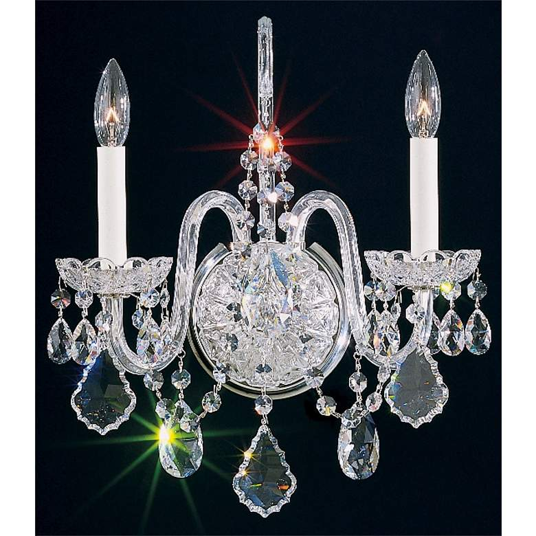 """Schonbek Olde World Collection 16"""" High Crystal Wall Sconce"""