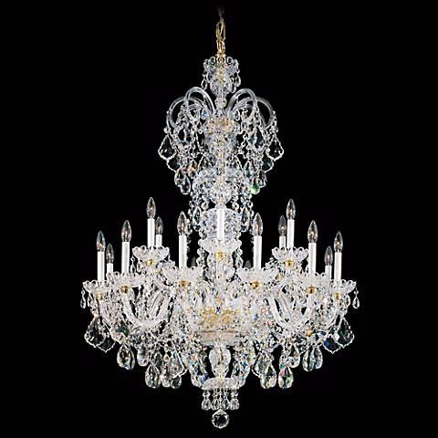 """Schonbek Olde World 36"""" Wide Large Crystal Chandelier"""