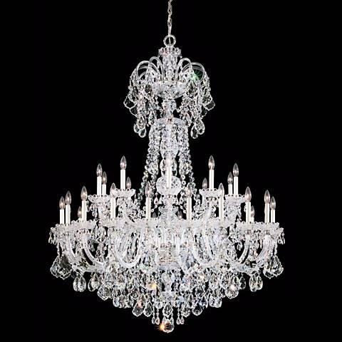 "Schonbek Olde World 48""W Silver Swarovski Crystal Chandelier"