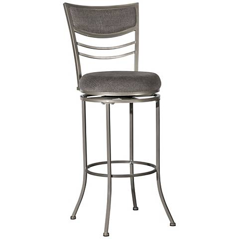 "Hillsdale Amherst 30"" Charcoal Swivel Bar Stool"